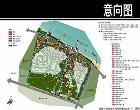某海滨综合住区总平面图