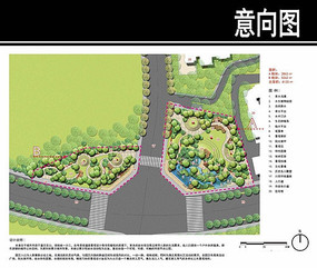 某环线道路节点公园总平面图