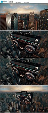 三维城市建筑动画视频