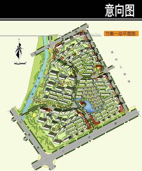 沈阳某住宅区规划总平面图