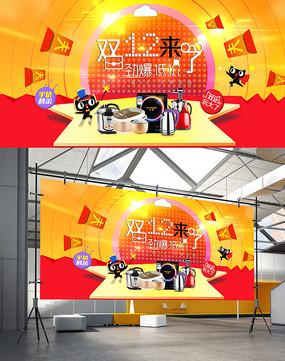 双十二天猫淘宝促销宣传海报
