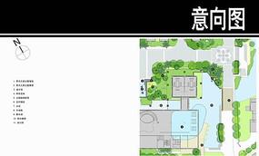 泰式风格居住小区会所泳池平面
