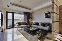 台式高层住宅客厅效果图 JPG
