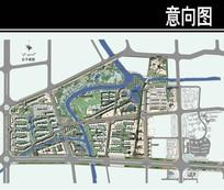 台州市某商业街总平面图 JPG