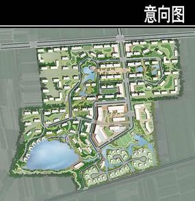 天津某养老社区规划总平面图