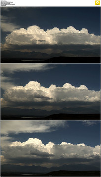 天上翻滚的白云实拍视频素材
