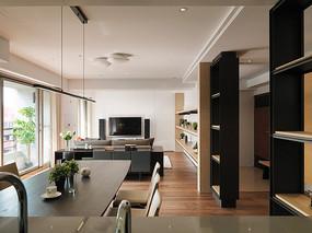 现代住宅开放式客厅