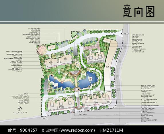 小型住宅区景观设计平面图图片