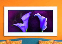 油画花卉客厅装饰画