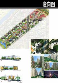 郑州某住宅区公共空间轴线设计