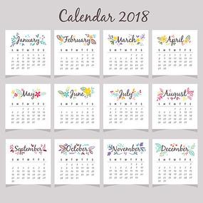 1到12月英文单词字体设计