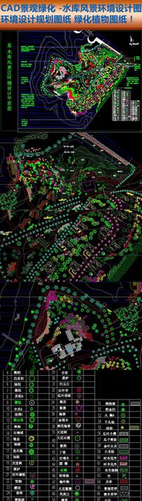 CAD景观园林公园绿化规划图