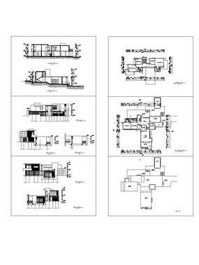 办公住宅几何建筑方案CAD