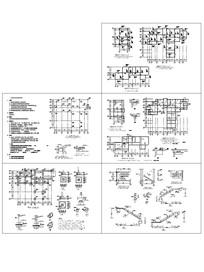 办公住宅几何建筑结构CAD