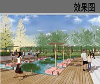 滨水广场节点效果图