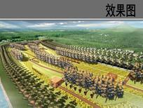 滨水生态景观设计秋季鸟瞰图