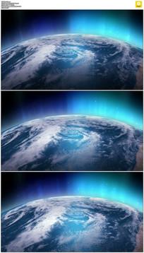 发光地球背景视频素材
