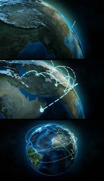 高清地球企业未来发展规划视频