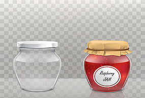 各种酱菜玻璃瓶效果图