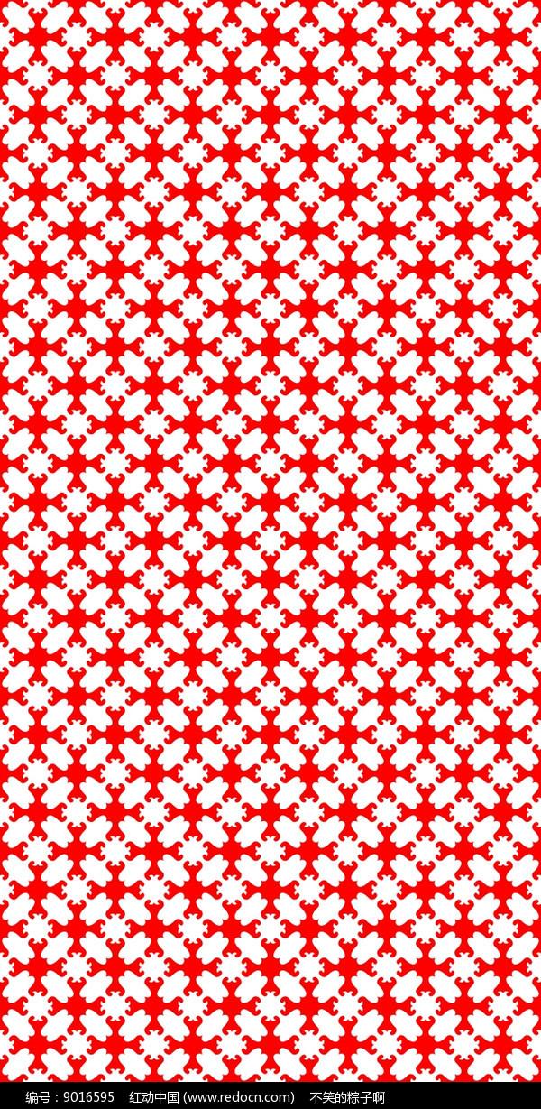 红艳花纹雕刻图案图片