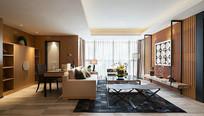 后现代风格住宅客厅设计 JPG