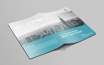 简洁大气蓝色企业文化画册封面