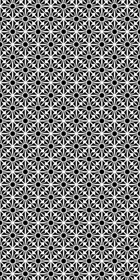 黑白结花纹理雕刻图案 CDR