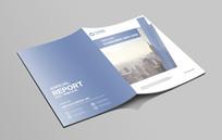 蓝色简洁大气企业文化画册封面