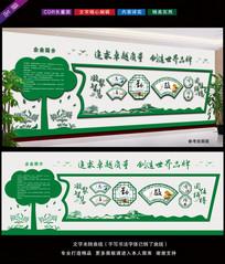 绿色环保公司文化墙效果图