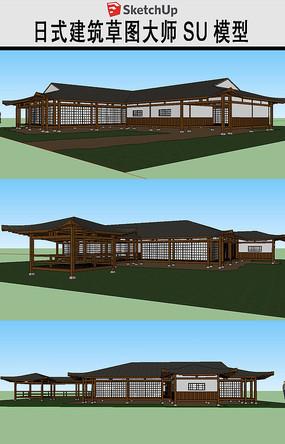 日本传统木质建筑SU模型