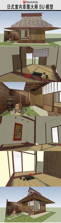 日本建筑房子茶馆茶屋SU模型