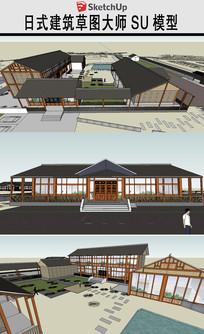 日式风格游客中心模型