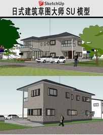 日式民房建筑草图SU模型