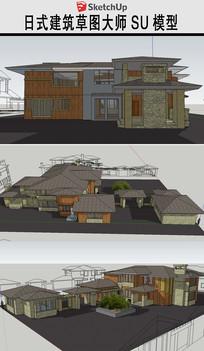 日式民居建筑草图模型