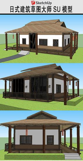 日式住宅建筑草图大师SU模型