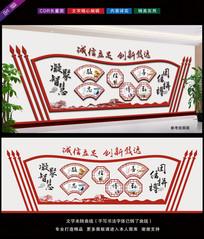 新中式公司走廊文化展板设计