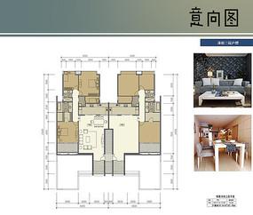 洋房二层户型图