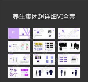 养生行业全套vi手册设计模板