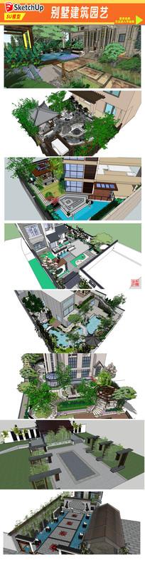 园林别墅建筑设计模型