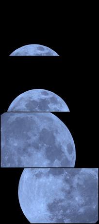 月球视频素材 mp4