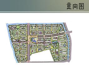 住宅区彩平图