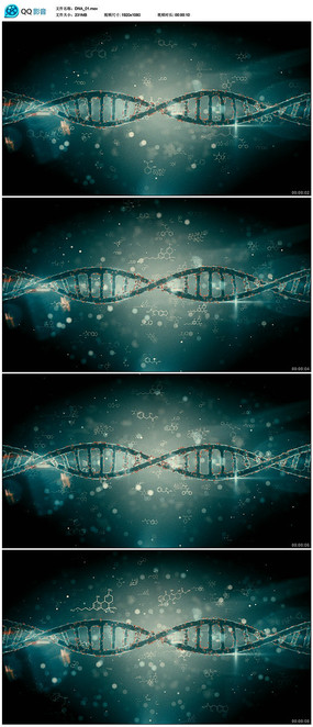 DNA医学医疗背景视频