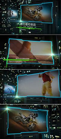 LED大屏图文展示ae模板