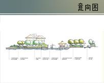 别墅亲水平台剖面图