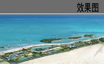 滨海度假中心整体鸟瞰图