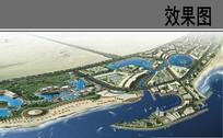 滨海核心景观带鸟瞰图