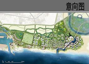 滨海新区景观设计平瞰图 JPG