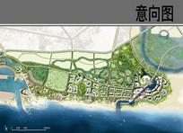 滨海新区景观设计平瞰图
