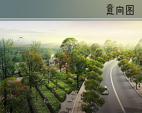 滨河茶林广场