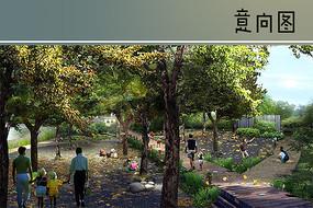 滨河绿地树阵